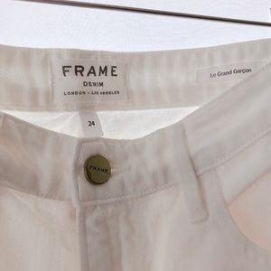 Frame Denim Pants - FRAME Denim sz 24 / 25 Le Grand Garçon White Jeans